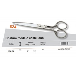"PALMERA / TIJERA COSTURA MODELO CASTELLANO 6"" - PALMERA CALIDAD"