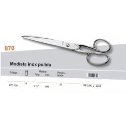 "PALMERA / TIJERA COSTURA MODISTA INOX PULIDA 7 1/2"" - PALMERA CALIDAD"