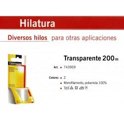 GUTERMANN / BOBINA HILO GUTERMAN TRANSPARENTE 200 METROS