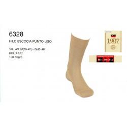 KLER 6328 - calcetin hilo de escocia punto liso