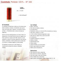 GUTERMANN / BOBINA HILO GUTERMAN COSELOTODO 100 METROS POLIESTER
