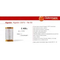 GUTERMANN /  BOBINA HILO ALGODON GUTERMAN 100%  400 METROS - NE 50