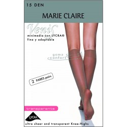 MARIE CLAIRE 2442 - MINI MEDIA TRANSPARENTE 15 DEN - 2 PARES
