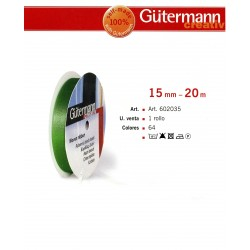 GUTERMANN / CINTA SATEN GUTERMAN DOBLE CARA 100% POLIESTER 20 METROS ANCHO 15MM