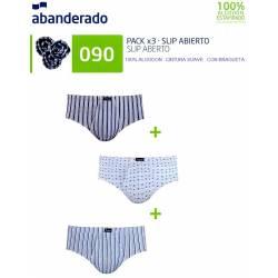 ABANDERADO 090 - pack de 3 slips abanderado