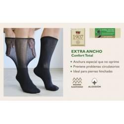 KLER 65240-CALCETIN DE CABALLERO  EXTRA ANCHO