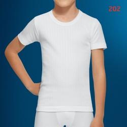 ABANDERADO 202 - camiseta interior termica de niño con canale y cuello redondo